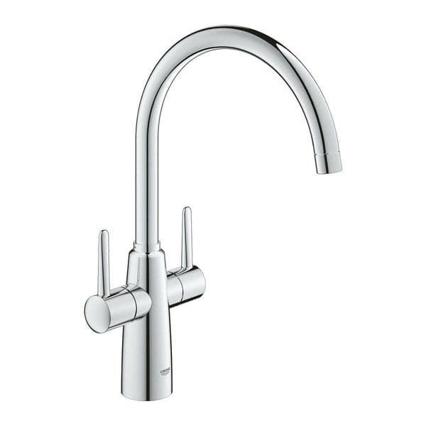 Grohe Ambi Dual Lever Kitchen Mixer Tap Chrome 30189000